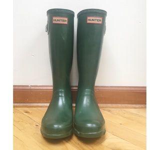 Green Hunter Boots (Kids Size: US 6F, UK 4, EU 37)